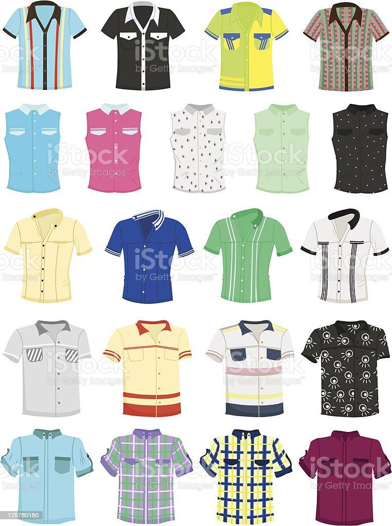 Summer shirts vector art illustration