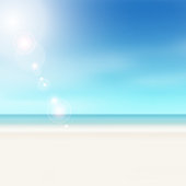 Soft blurred horizon backdrop with lens flare