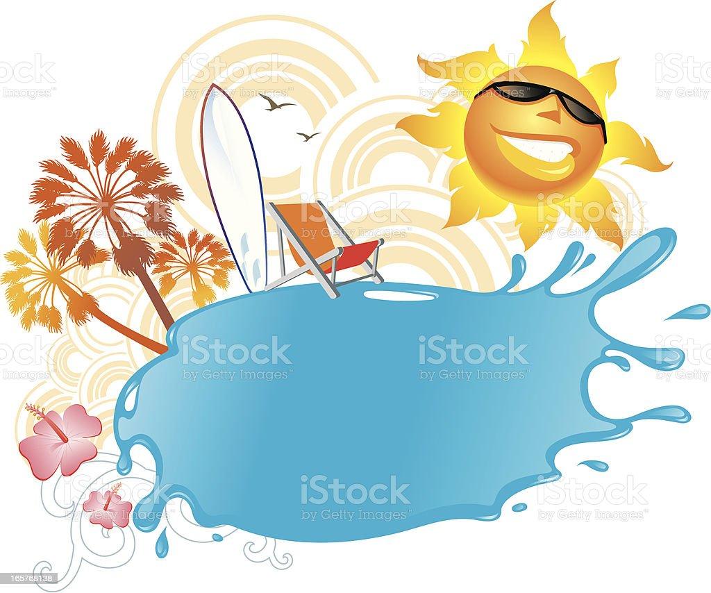 Summer Splash Banner royalty-free stock vector art