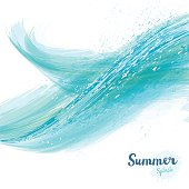 Vector summer splash background with layers.