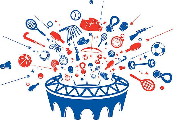 Summer Sports Cartoon: Top Olympic Podium Clip Art, Vector Graphics And