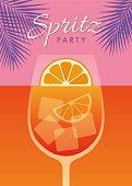 istock Summer Spritz Party invitation. 1323696009