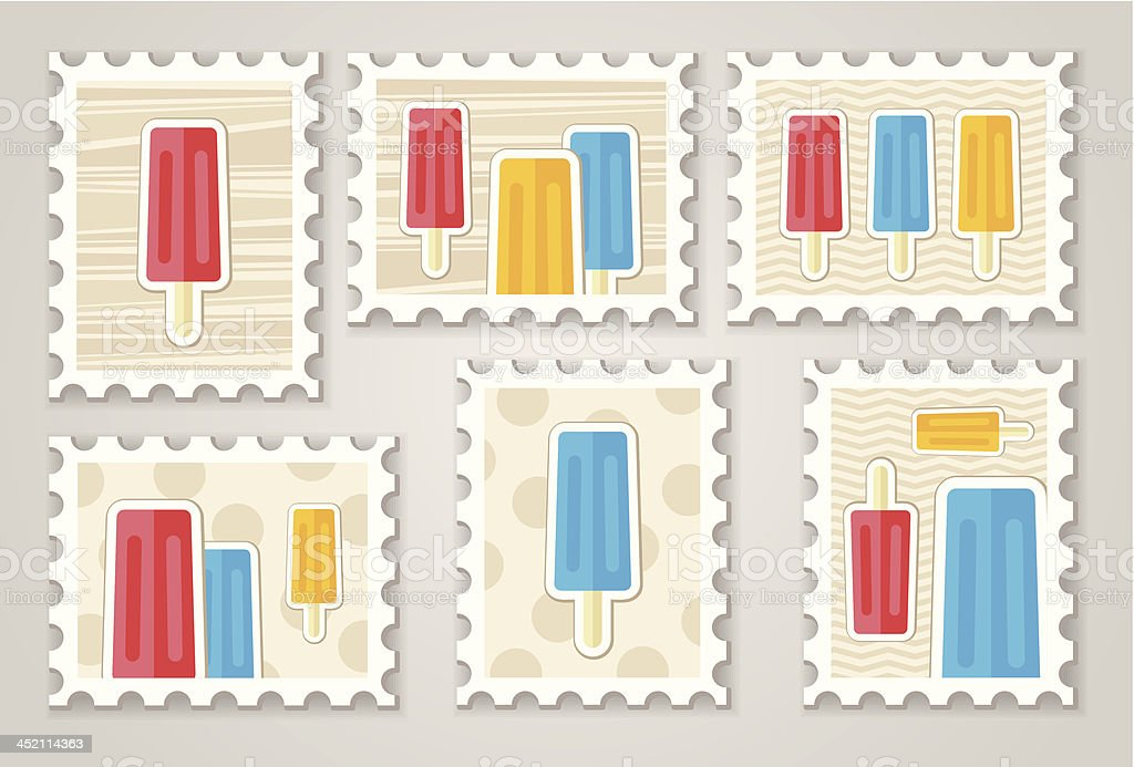Summer stamps royalty-free stock vector art