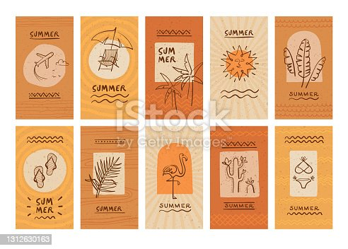 istock Summer story covers templates 1312630163