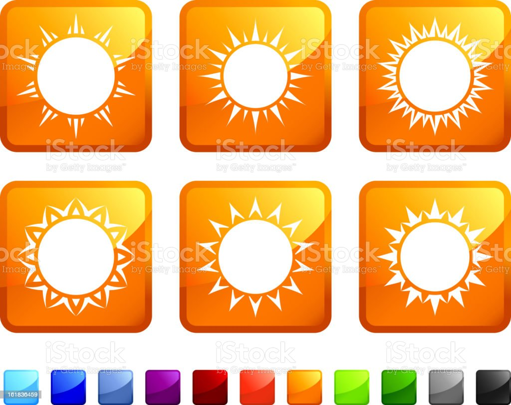 Summer Sun Design royalty free vector icon set stickers royalty-free summer sun design royalty free vector icon set stickers stock vector art & more images of black color