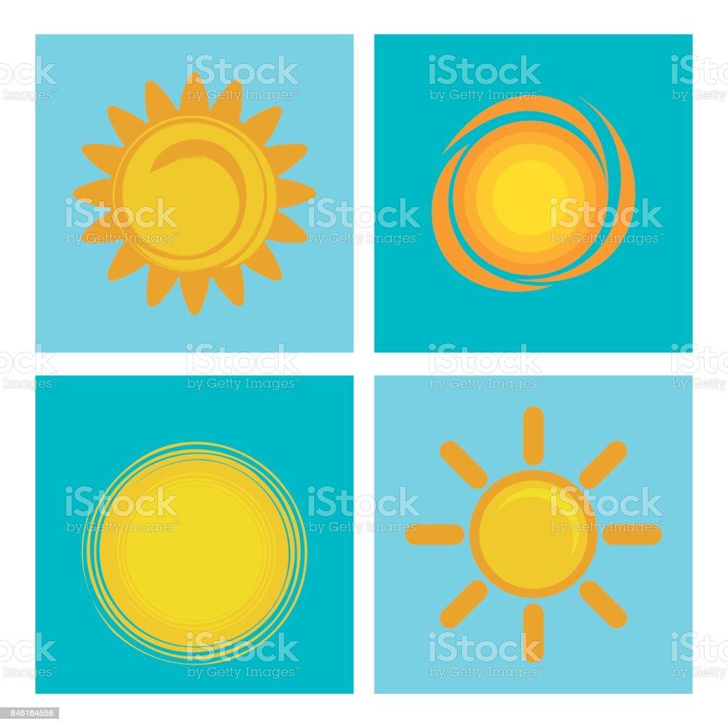Yaz Güneş Tasarım Stok Vektör Sanatı Aydınlıknin Daha Fazla