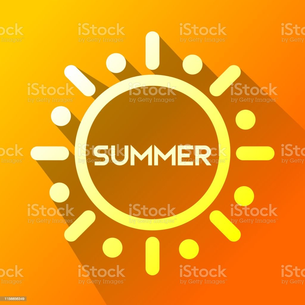 summer sun icon in Flat One of web collection icon for UI, UX....