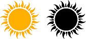 Summer Sun Icon Set Vector Graphic