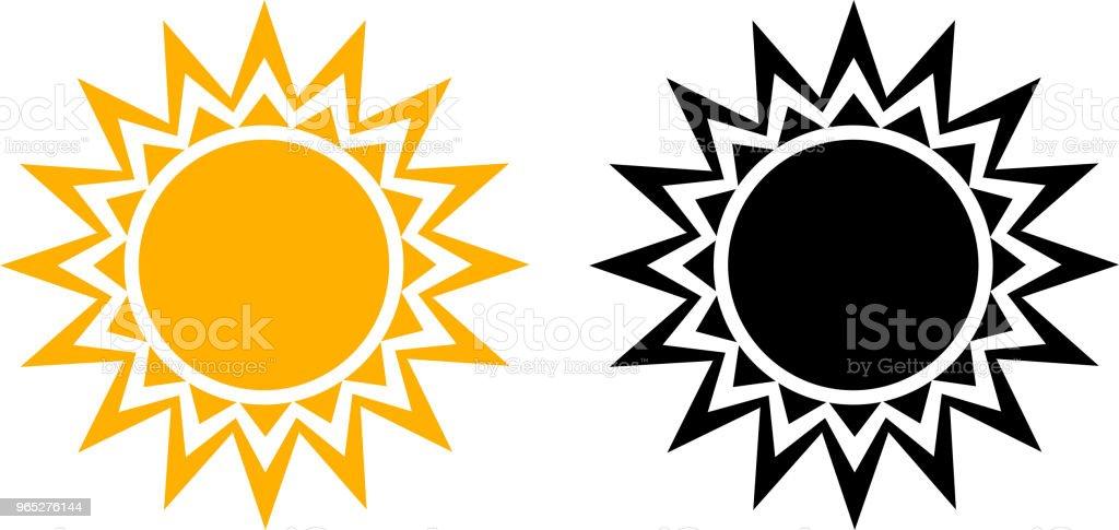 Summer Sun Icon Set Vector Graphic summer sun icon set vector graphic - stockowe grafiki wektorowe i więcej obrazów abstrakcja royalty-free