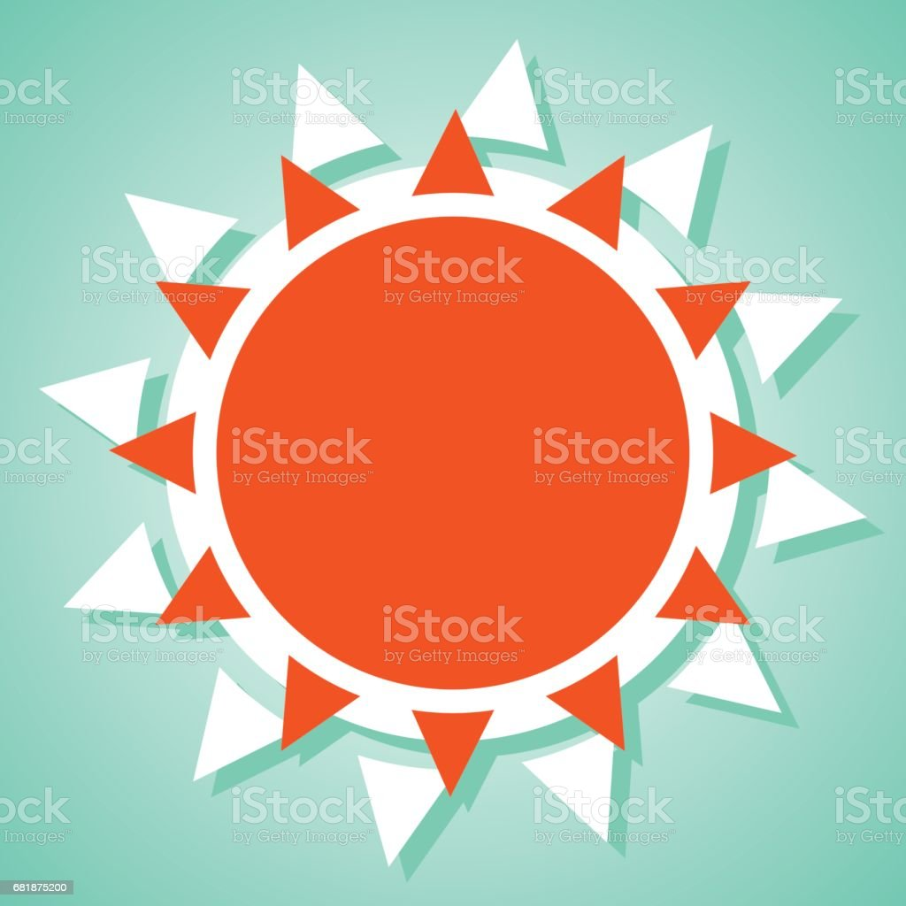 summer sun icon vector art illustration