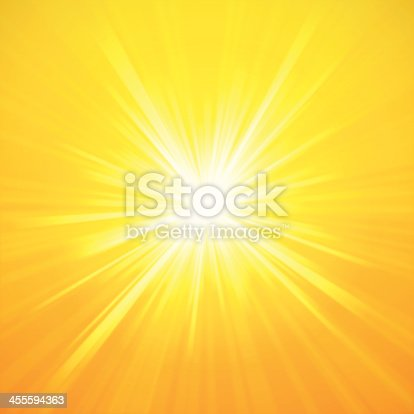 Detailed summer sunburst background abstract. EPS 10 file. Transparency used on highlight elements.