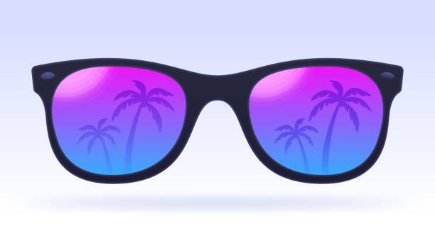 여름 선글라스 - 선글라스 stock illustrations