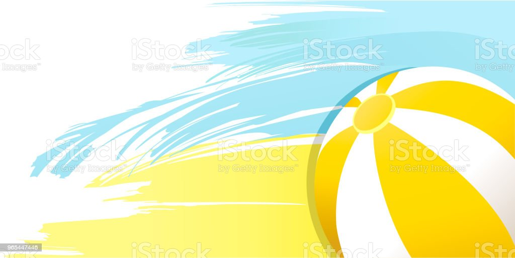 Summer sunny yellow background with beach ball royalty-free summer sunny yellow background with beach ball stock vector art & more images of abstract