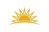 Cute sun. Concept for summer season