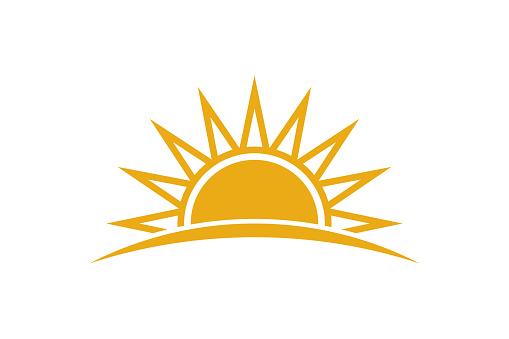 Summer Sunrise. Sunny Logo Design
