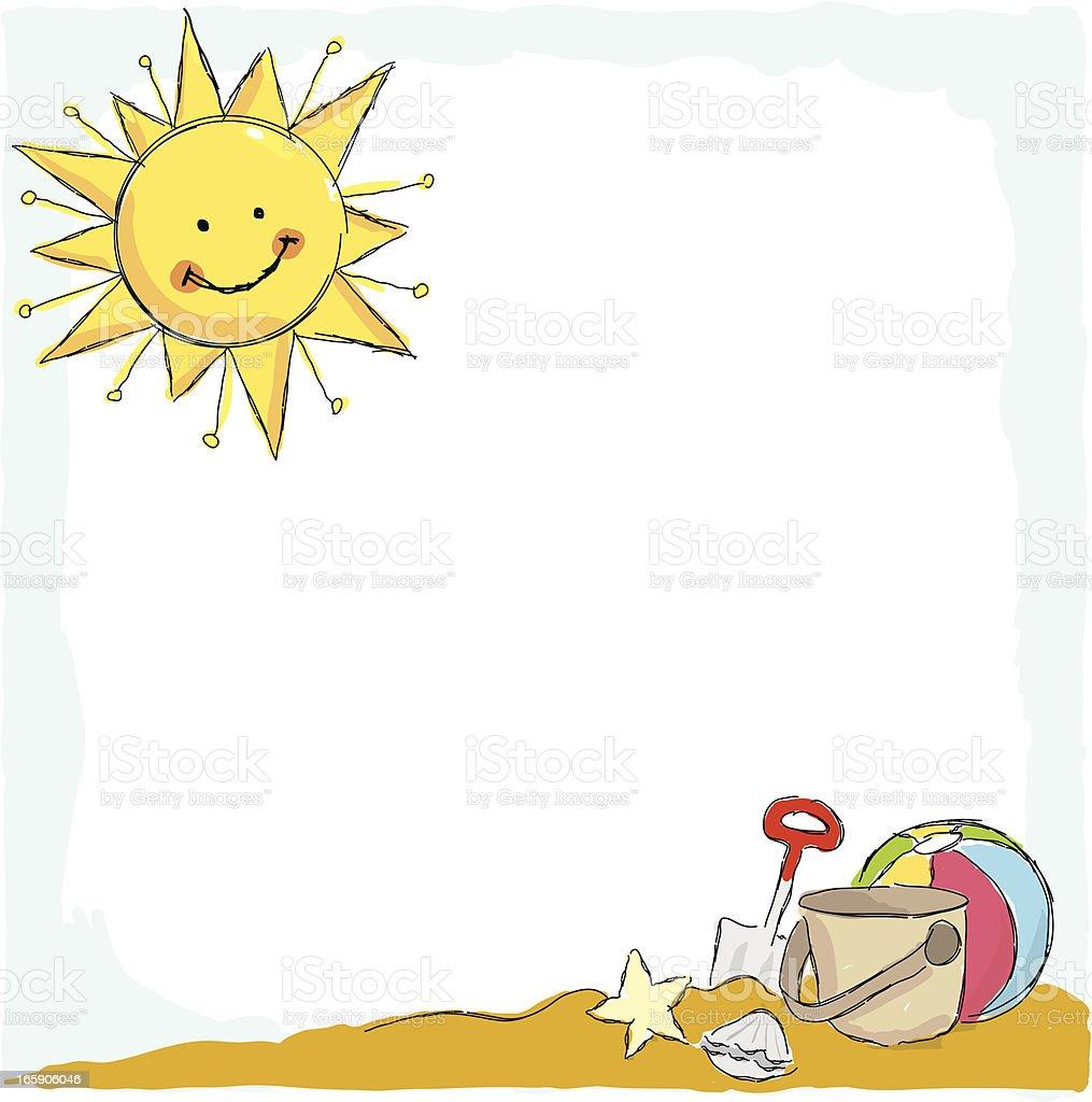 Summer Sunshine Beach Frame Stock Vector Art & More Images ...