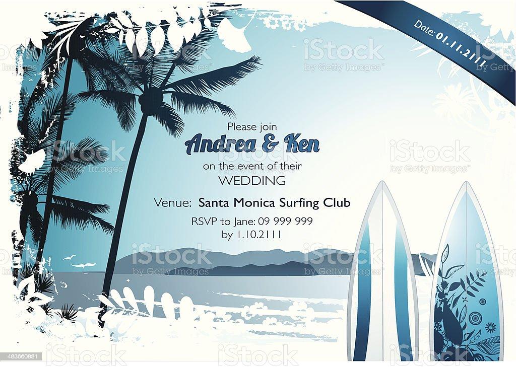 Summer surf design - Illustration royalty-free stock vector art
