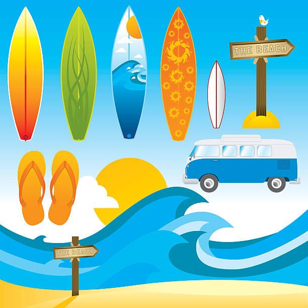 Sommer-Surf – Vektorgrafik