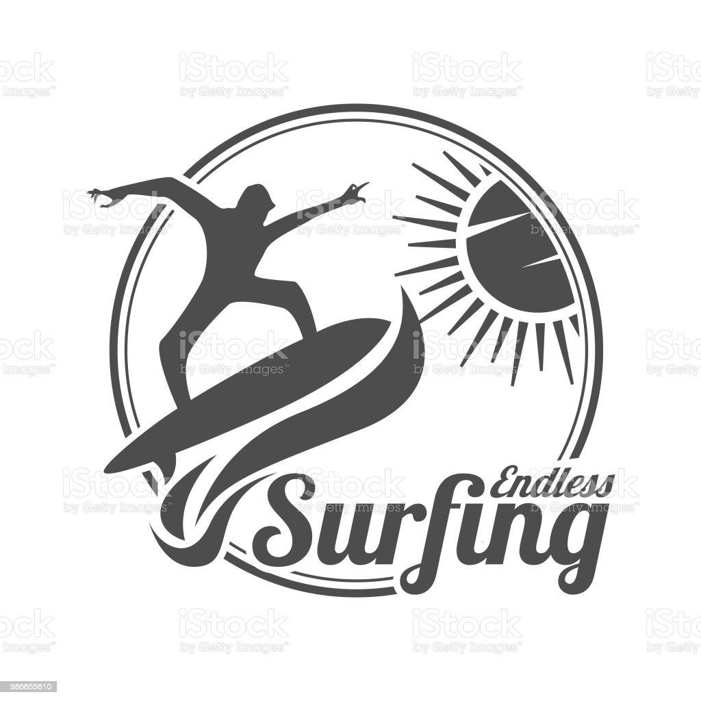 royalty free surf indonesia clip art vector images illustrations Snorkeling in Bali Indonesia summer surfing sports vector logo vector art illustration
