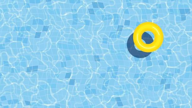 illustrations, cliparts, dessins animés et icônes de illustration de fond de piscine d'été avec l'anneau gonflable - piscine