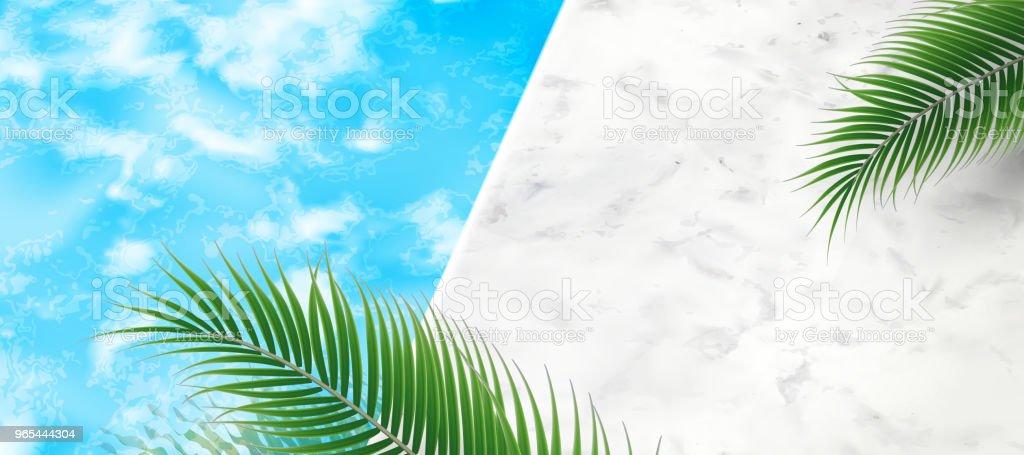 Fond de piscine l'été - clipart vectoriel de Abstrait libre de droits