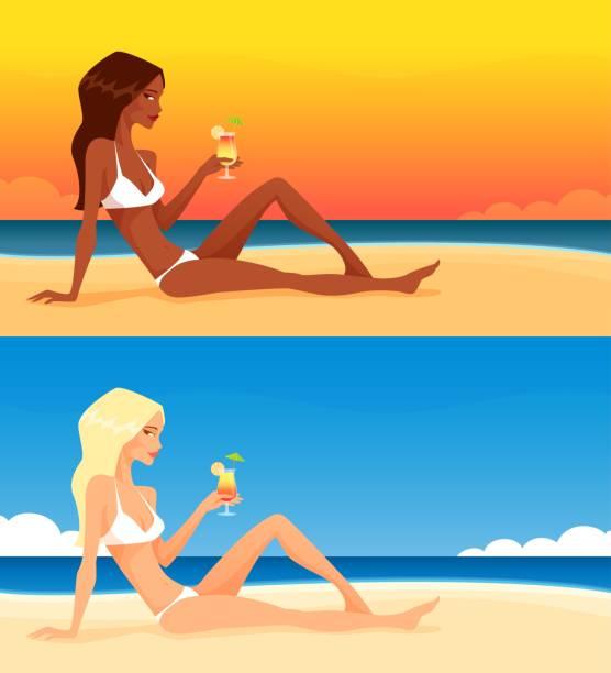 Woman With Beautiful Body In Bikini At Beach Stock Image: Royalty Free Bikini Clip Art, Vector Images