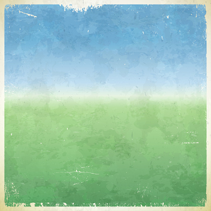 Summer themed grungy retro abstract vector background