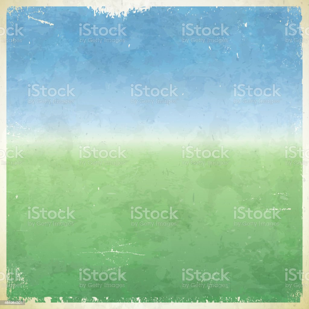Summer themed grungy retro background vector art illustration