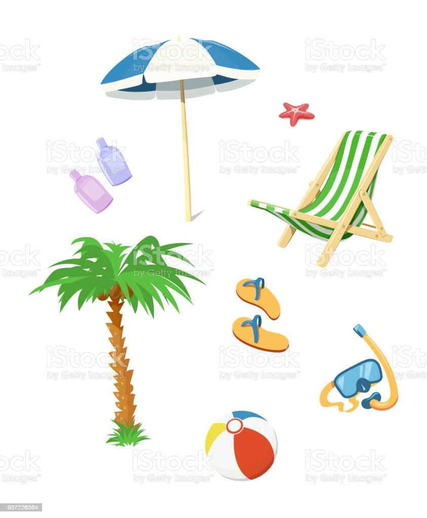 Summer time accessory. vector art illustration