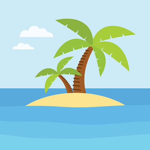 bildbanksillustrationer, clip art samt tecknat material och ikoner med summer time and beach - ö
