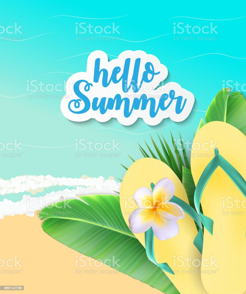 Summer Time Background. Sunny Beach Vector Illustration royalty-free summer time background sunny beach vector illustration stock vector art & more images of abstract