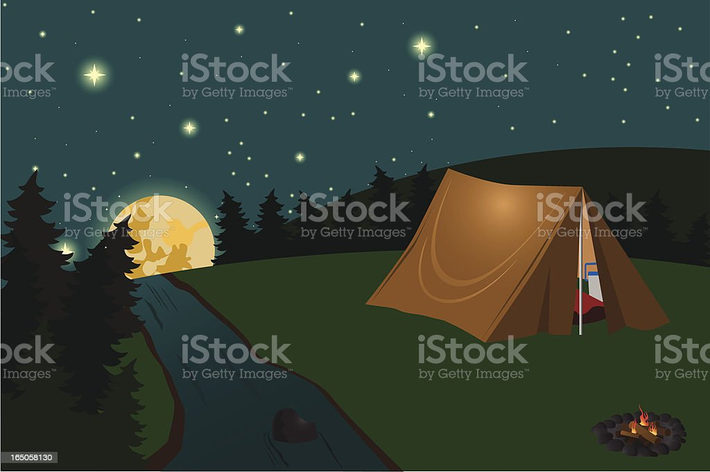 Summer Time Camping royalty-free stock vector art