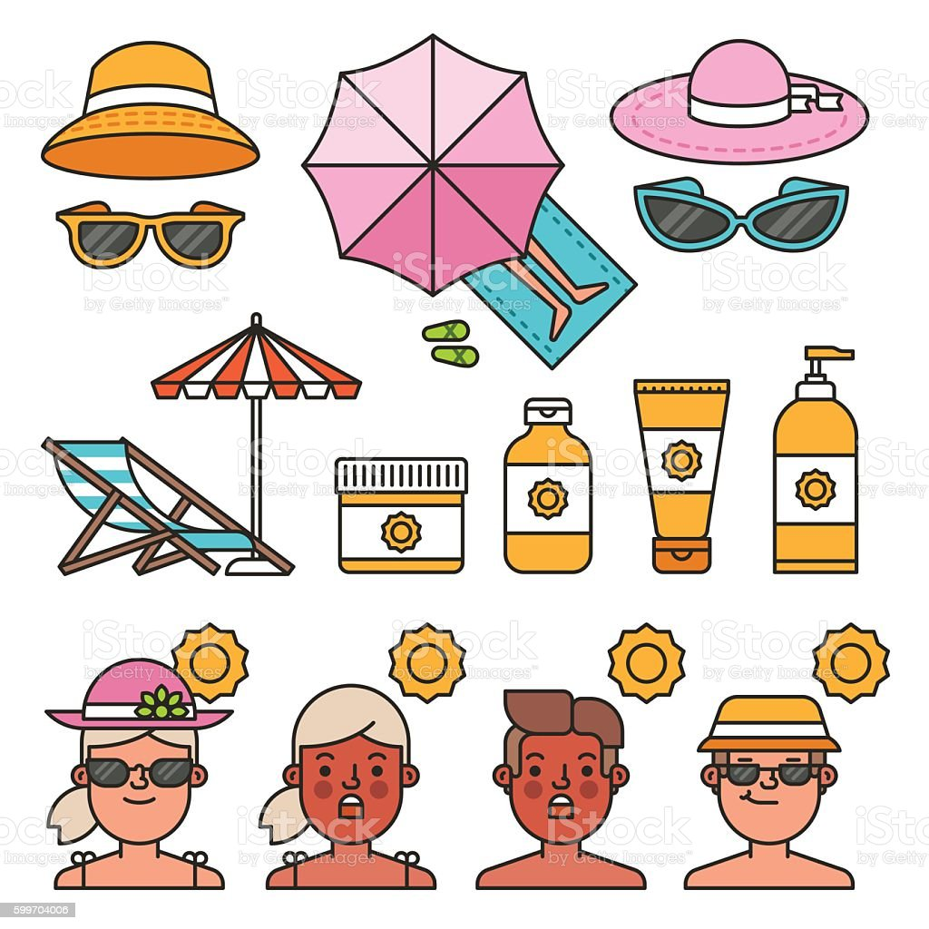 Summer time concept. Illustrations for infographic vector art illustration