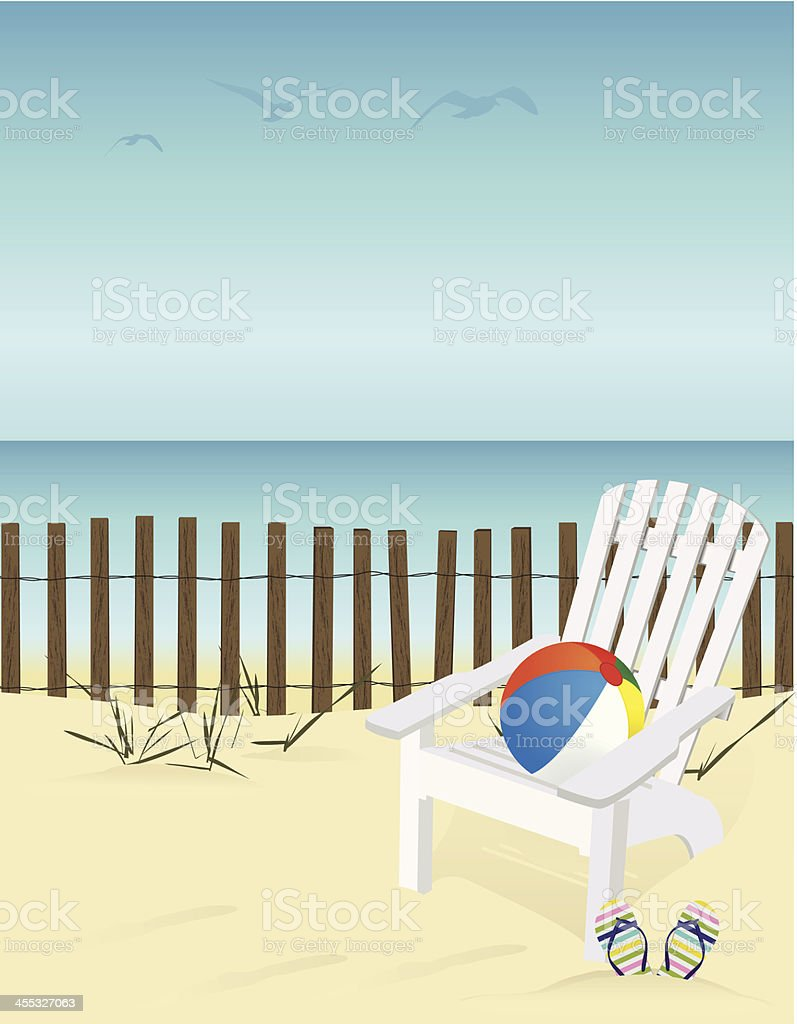 Summer time graphic with beach royalty-free stock vector art