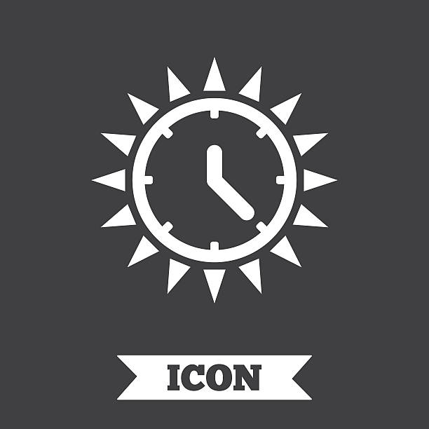 summer time icon. sunny day. daylight saving. - daylight savings time stock illustrations, clip art, cartoons, & icons