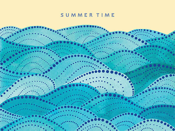 summer time lettering on yellow background - Illustration vectorielle