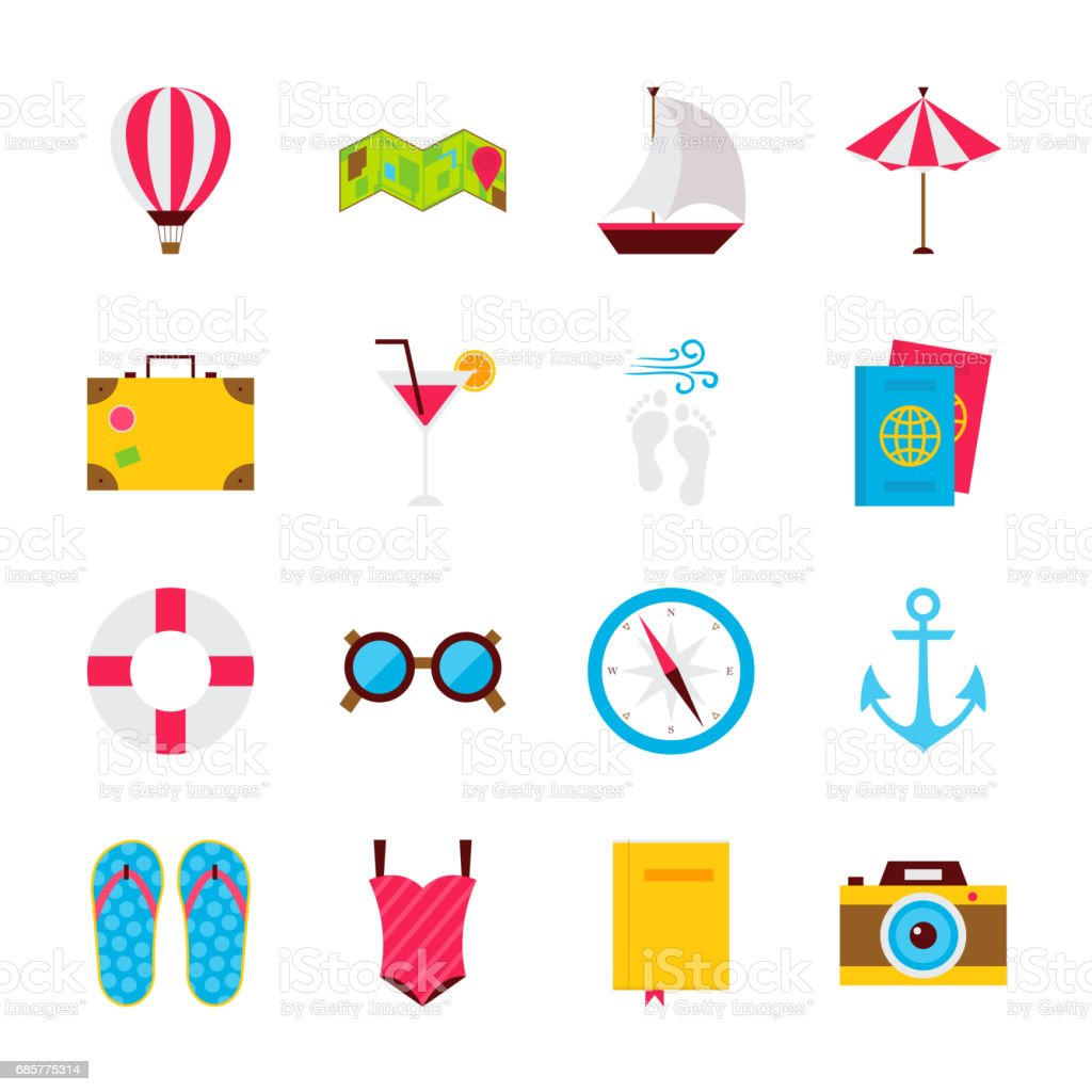 Summer Time Objects royalty-free summer time objects stock vector art & more images of air vehicle