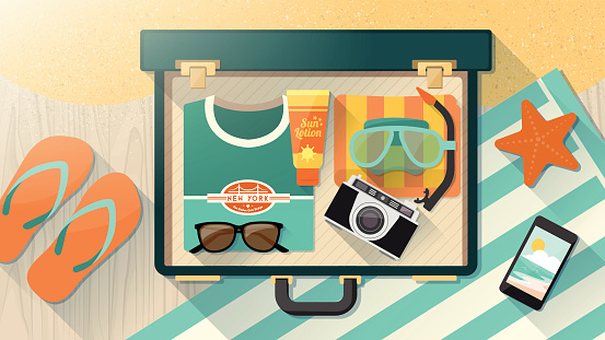 Luggage stock illustrations