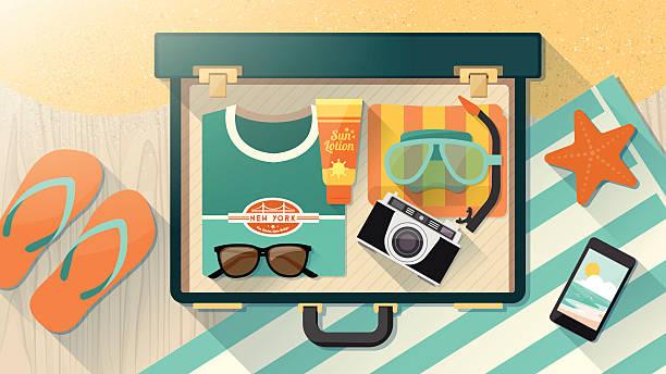 Luggage stock illustrations