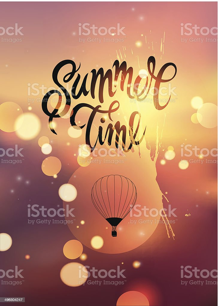 Summer time. Vector background vector art illustration