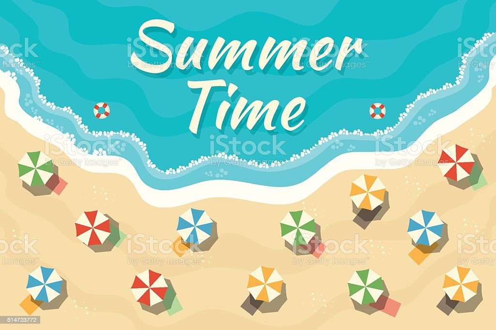 Summer Time vector art illustration