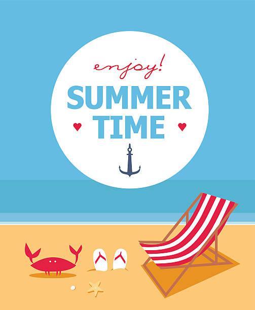 illustrations, cliparts, dessins animés et icônes de heure d'été - transat