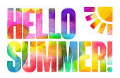 Summer time message in water color brush style.