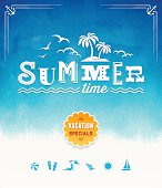 istock Summer Time Watercolor Background 488181665