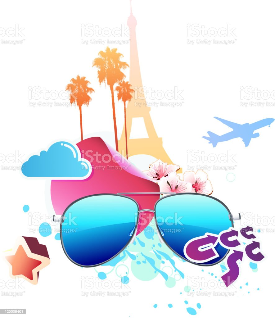 Summer travel concept royalty-free stock vector art
