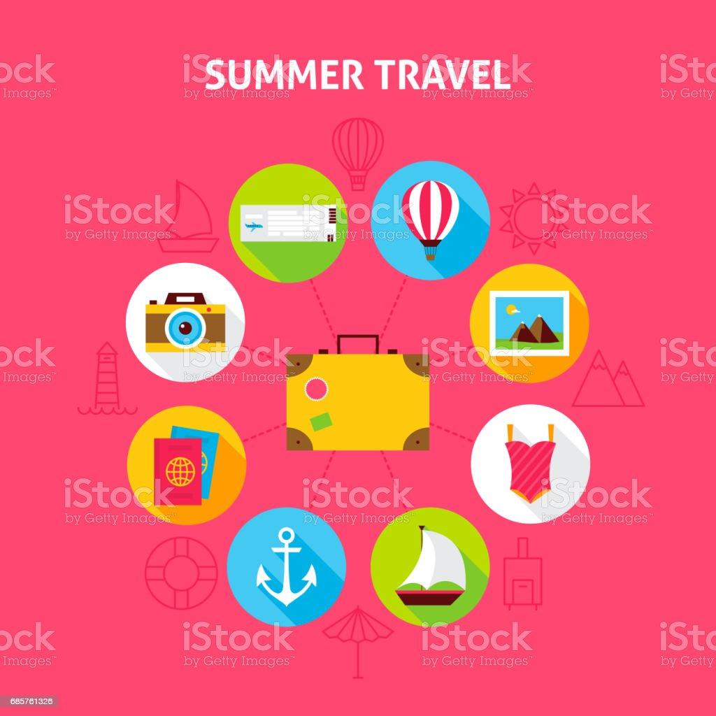 Summer Travel Concept summer travel concept - immagini vettoriali stock e altre immagini di ancora royalty-free