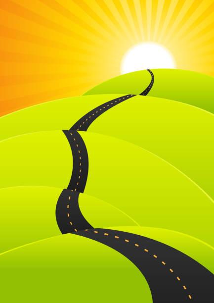 Royalty Free Long Road Horizon Clip Art, Vector Images ...