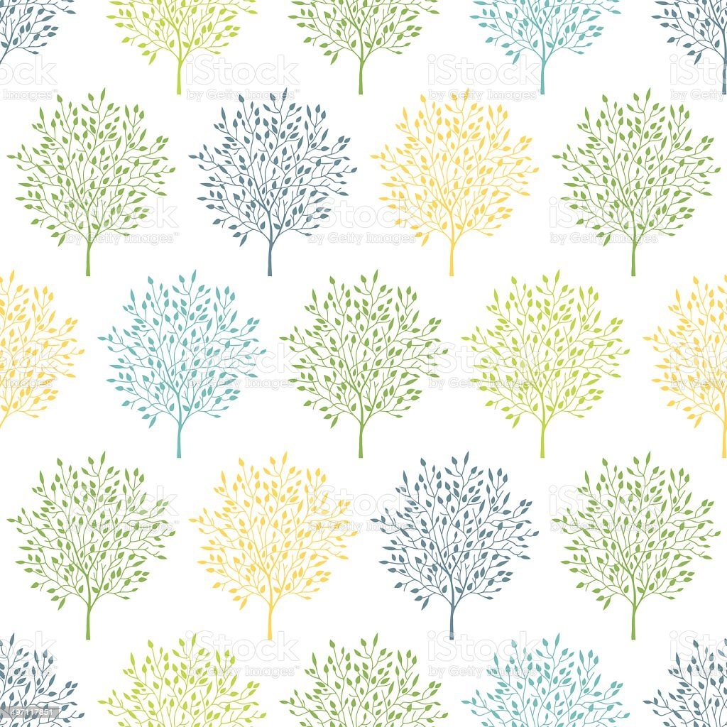 Summer trees colorful seamless pattern background royalty-free summer trees colorful seamless pattern background stock vector art & more images of abstract