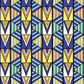 Summer tribal pattern vector seamless