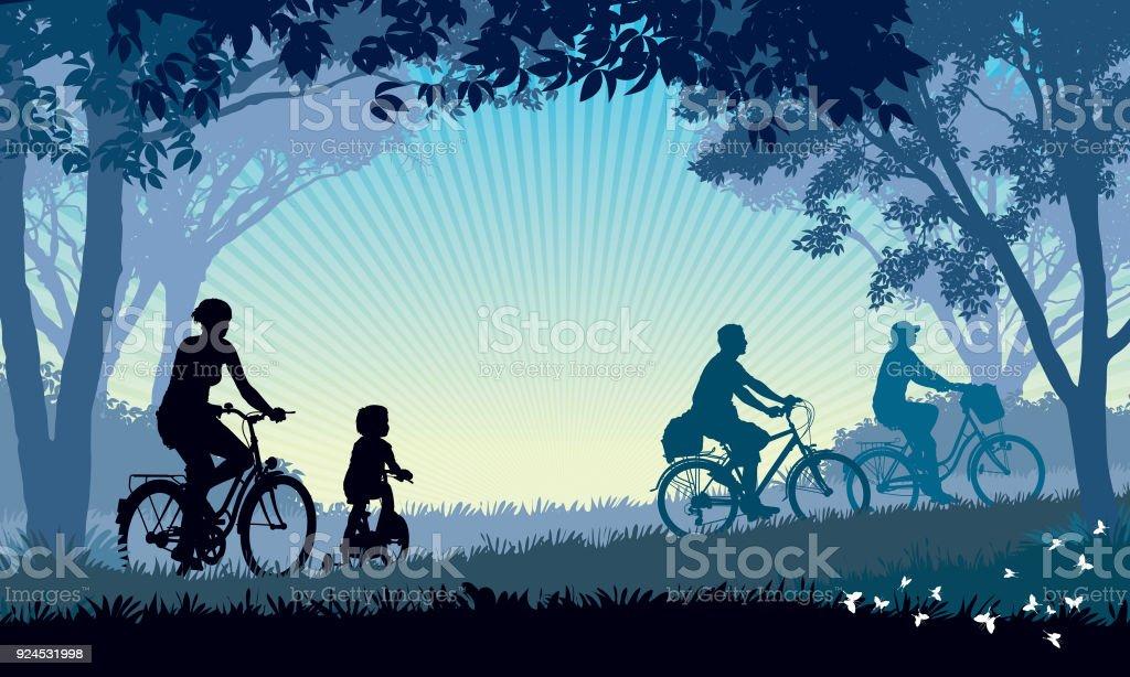 Summer trip vector art illustration